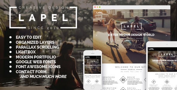 Lapel One Page & Multi Page Muse Template