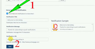 free web push notifications blogger