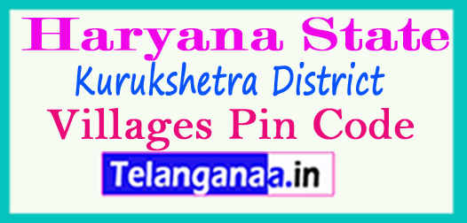 Kurukshetra District Pin Codes in Haryana State