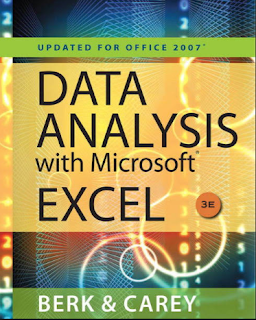 Data Analysis with Microsoft Excel Updated for Office 2007 By Kenneth N. Berk and Patrick Carey