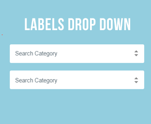 How to Create Labels Drop Down Menu In Blogger