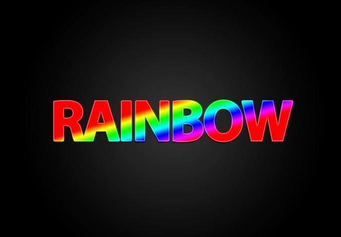 Rainbow PSD Text Effect