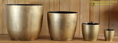 golden colour planter pots