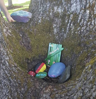 Fairy door painted rocks