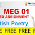 MEG-01 BRITISH POETRY Solved Assignment 2019-2020