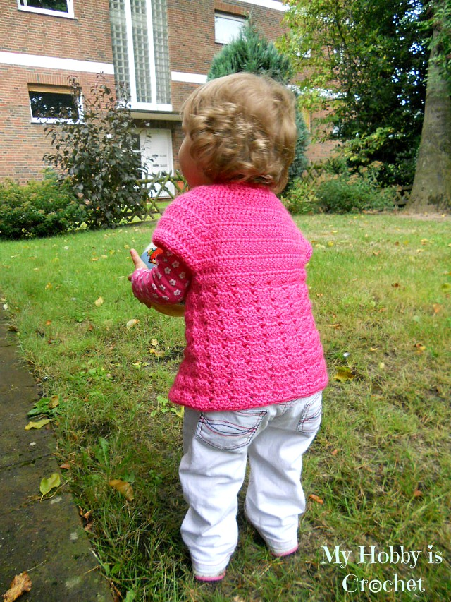 My Hobby Is Crochet Toddler Short Sleeved Cardigan Twin