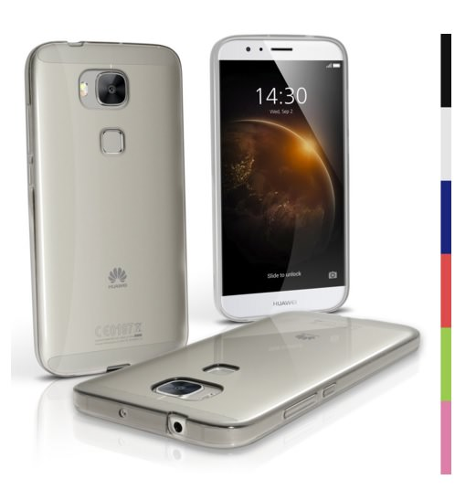 Transparent Clear Glossy TPU Gel Case For Huawei G8