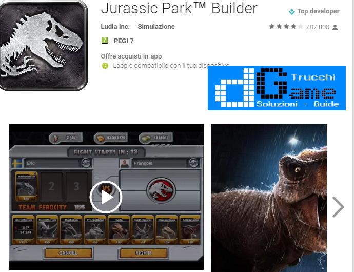 Trucchi Jurassic Park™ Builder Mod Apk Android v4.9.0