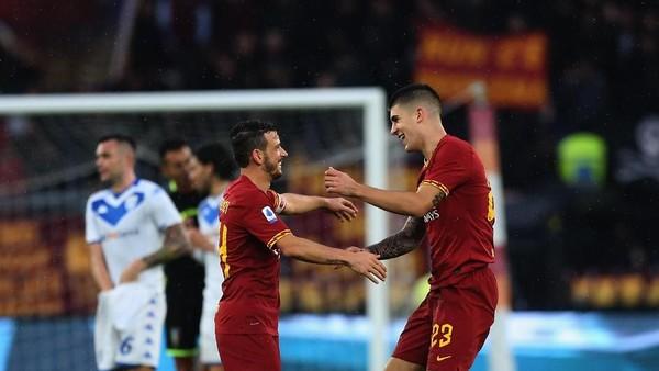 Hasil Liga Italia: Diwarnai Tiga Gol Dianulir, Roma Hajar Brescia 3-0