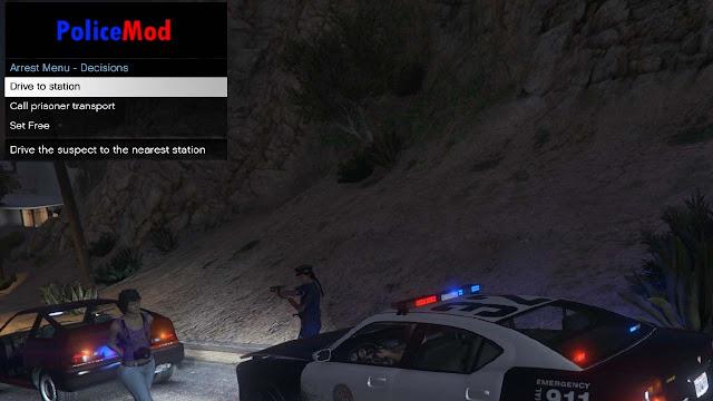 Mod Polisi Nangkep Penjahat - POLICEMOD 2 GTA 5