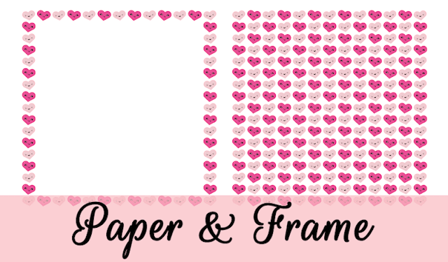 Valentine Kawaii Paper and Frame