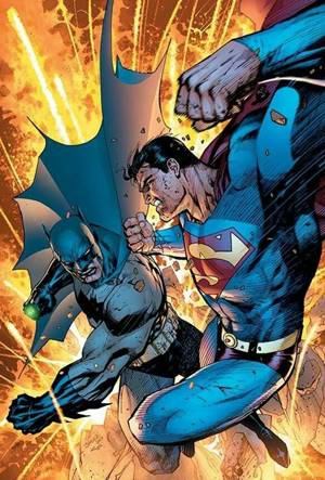 Batman vs Superman en portada de cómic
