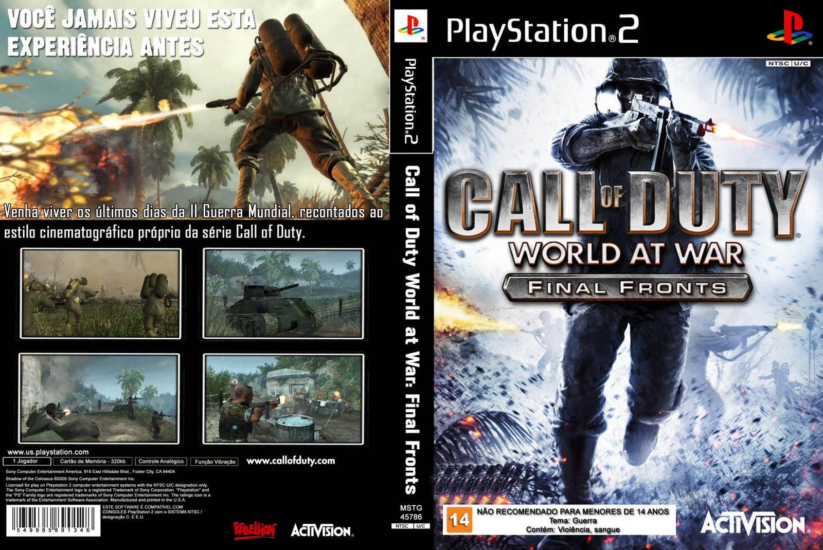 Ps2 call of duty world at war / 30 day workout dvd