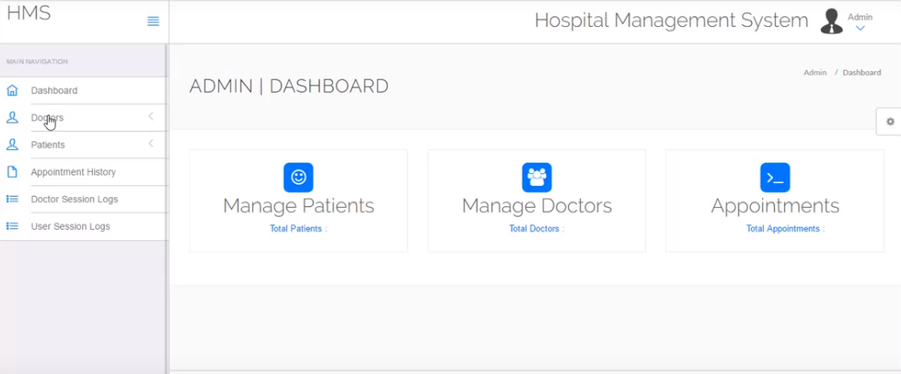 Hospital Management System Awesome Project | PHP | Free