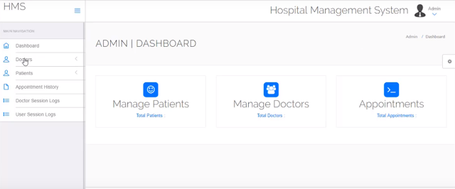 Hospital Management System Awesome Project | PHP | Free Source Code 2019