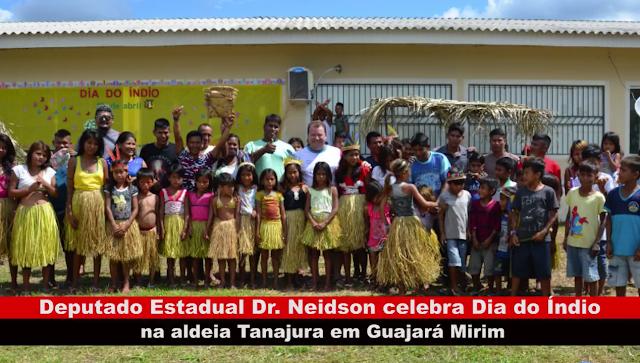 Vídeo: Dr. Neidson celebra Dia do Índio na Aldeia Tanajura em Guajará-Mirim