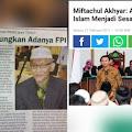 Ketua MUI yang Baru, Dukung F.P-1 Berantas Kemunkaran hingga Sebut Ahok Sesatkan Umat