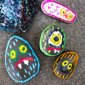OIl Pastel Rock Monsters