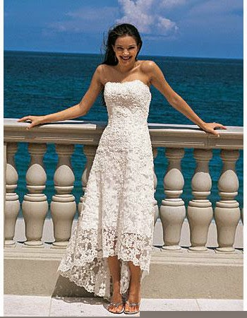 Buy wedding dresses online cheap wedding dresses discount wedding affordable casual summer strapless lace high low beach wedding dress junglespirit Gallery