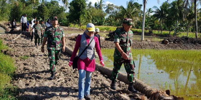 Aster Kodam Hsn, Dampingi Kementan RI Dari Tim Percepatan Cetak Sawah