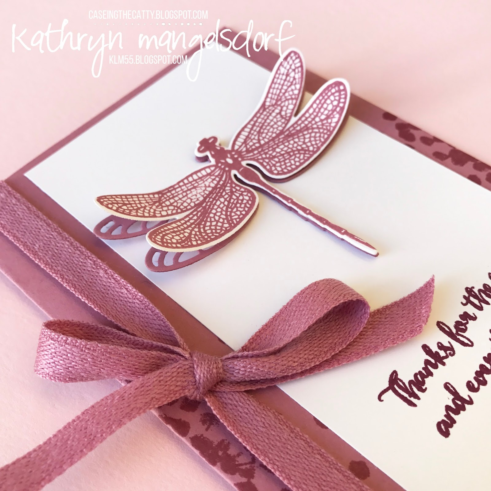 Kathryn\'s Stampin\' World: CASE-ing the Catty Dragonfly Dreams ...