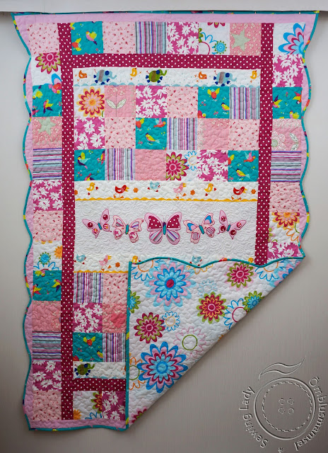 quilting, pink patchwork quilt