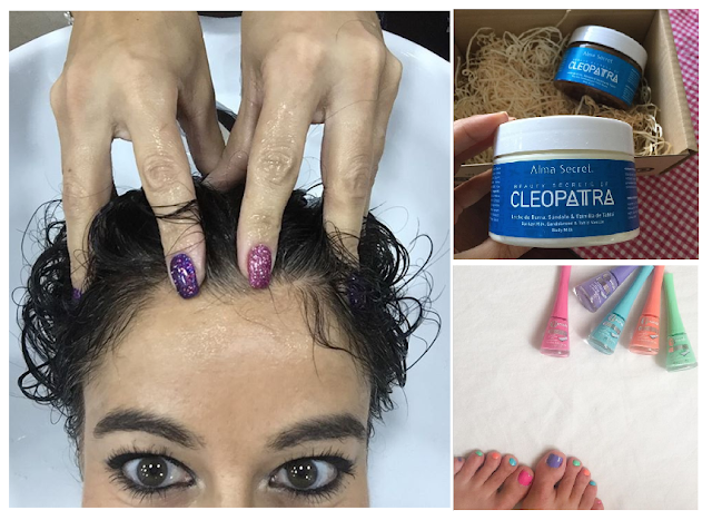 "BEAUTY Report: ""Beauty Secrets of Cleopatra"" de ALMA SECRET · Pedicura multicolor · Hidratación capilar by AQUARELA"