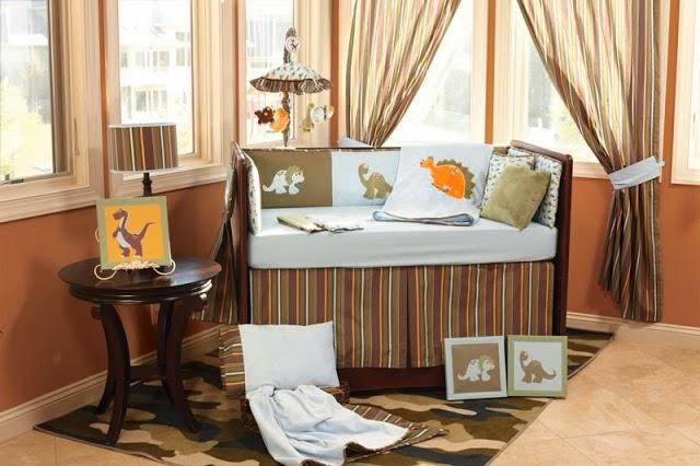 Habitación bebé marrón beige