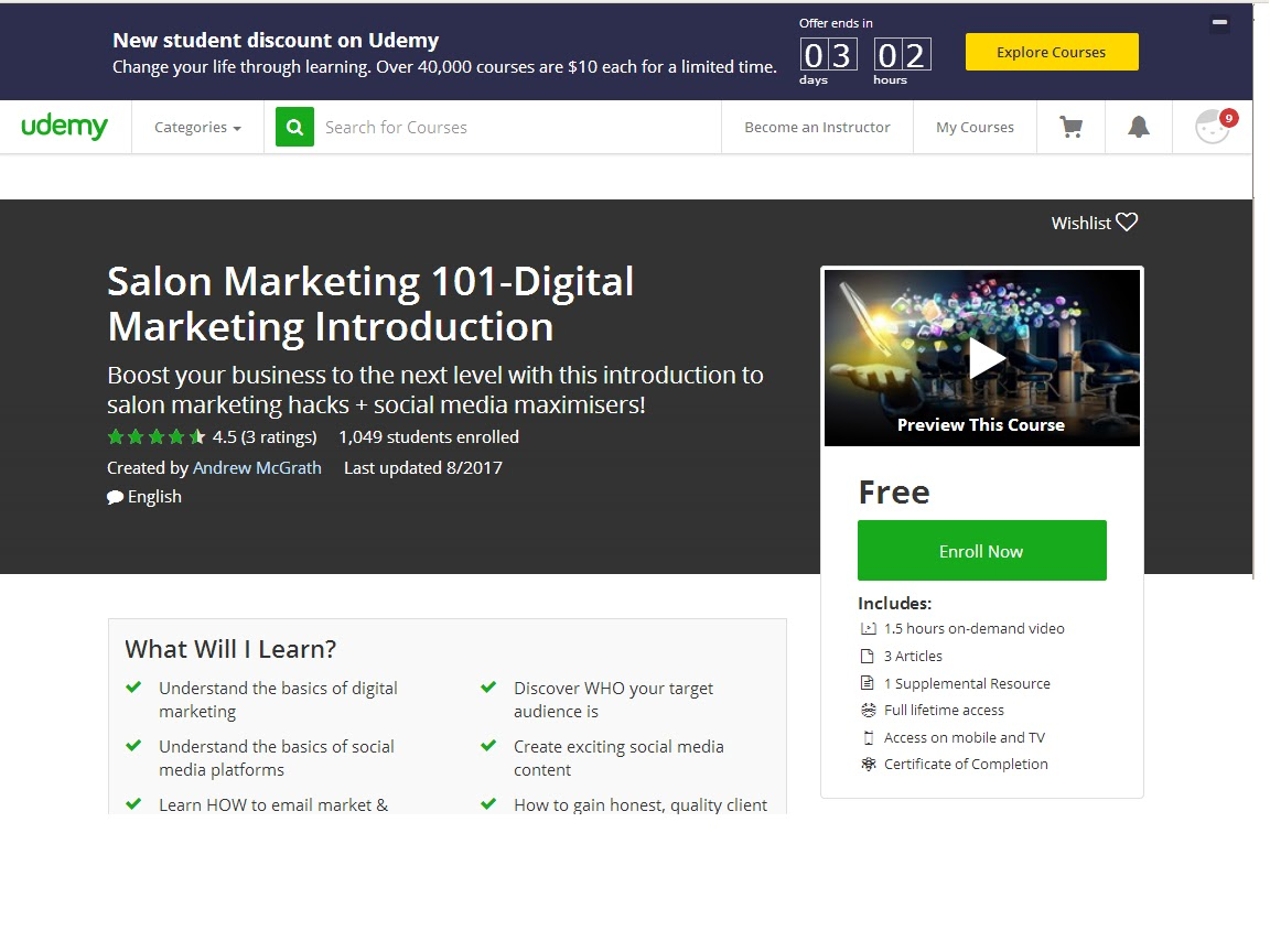 salon marketing 101 digital marketing introduction udemy