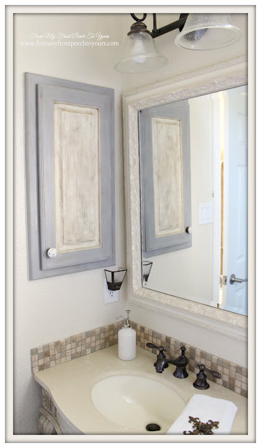 Farmhouse Guest Bathroom-Medicine Cabinet- From My Front Porch To Yours
