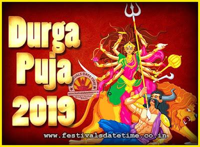 2019 Durga Puja Date & Time, 2019 Durga Puja Calendar