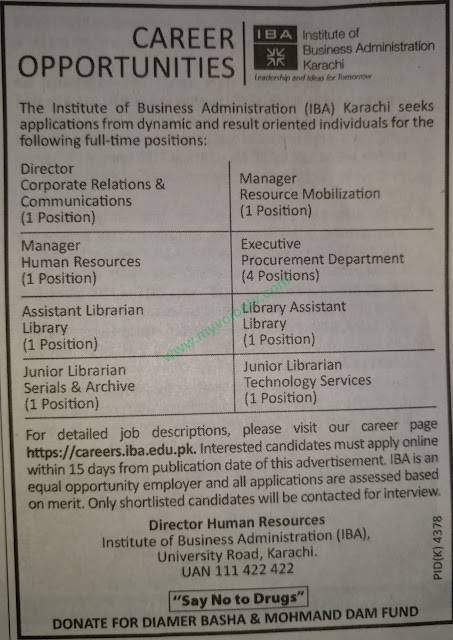 ➨ #Jobs - #Career_Opportunities - #Jobs - at IBA Karachi – for application visit the link