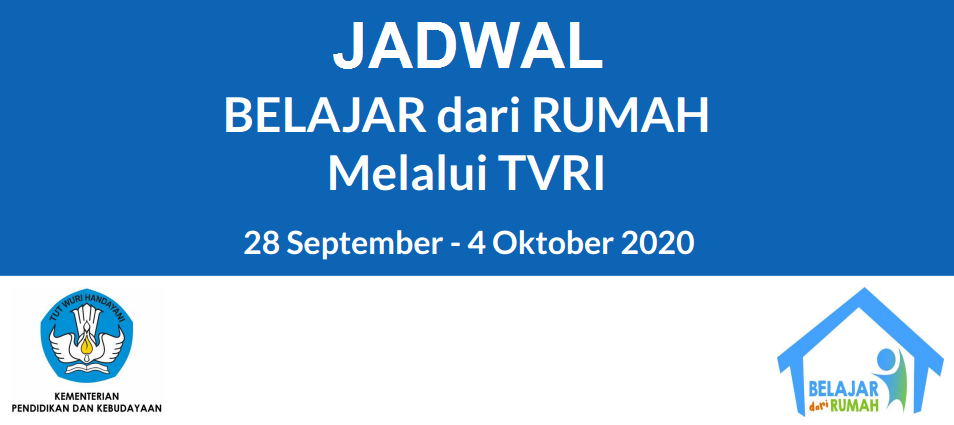 Jadwal, dan Pertanyaan BDR di TVRI Tanggal 28 29 30 September dan 01 02 Oktober 2020