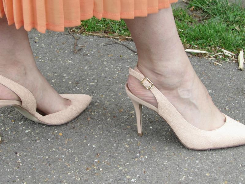 lace blush slingback shoes