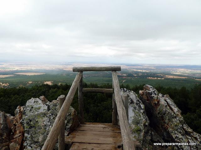 mirador de Piedras Llanas en Segovia