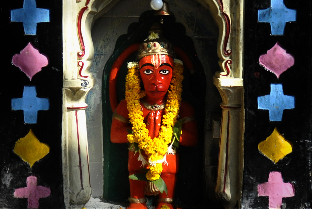 Photo of a Hindu deity in India submitted to the weekly challenge 'Places of Worship' on Better Photography.