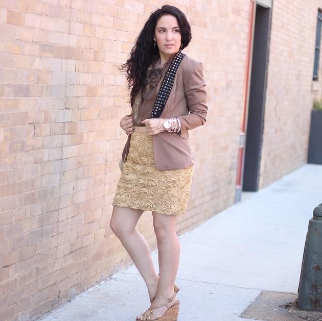 Gold Rosette Skirt