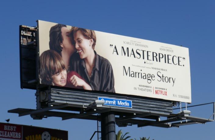 Marriage Story movie Masterpiece billboard