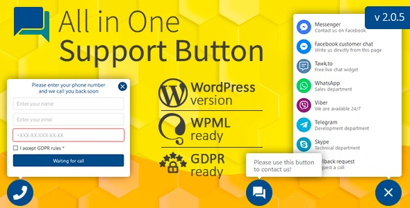 All in One Support Button + Callback Request v2.0.4