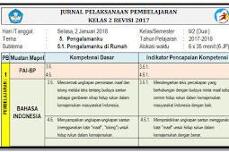 Jurnal Pembelajaran Kelas 2 Semester 2 Kurikulum 2013 Revisi 2017