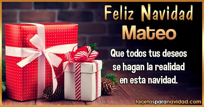 Feliz Navidad Mateo