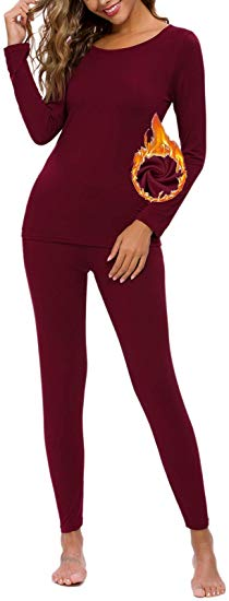 80% off Women's Thermal Underwear Long Jonhs Set with Fleece Lined Thermal