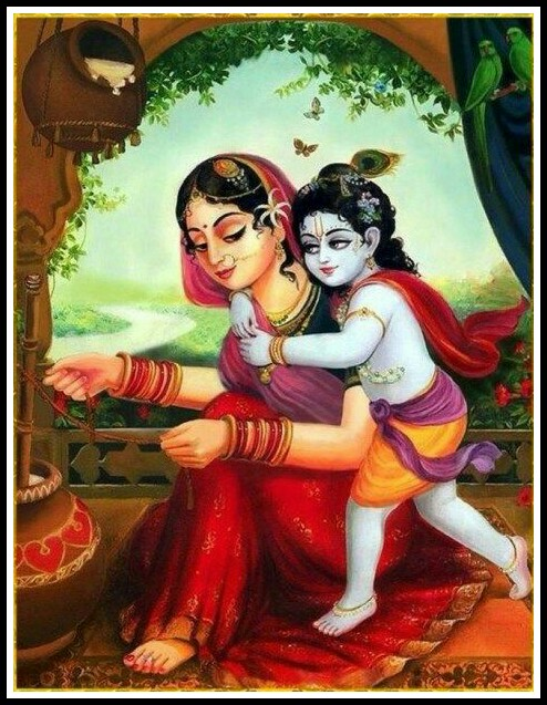 krishna and yasoda image