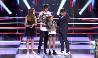 Aitana, Marc y María cantan Back for Good de Take That. Últimas Batallas La Voz Kids 2017