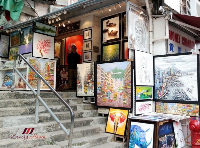 hong kong stanley market shopping art gallery painting