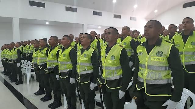 91 auxiliares nuevos de la Policía Nacional, reforzarán la seguridad en el Cesar