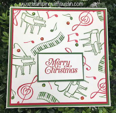 Stampin' Up!, Music From the Heart, Christmas Card, 2020 January-June Mini Catalog, www.stampingwithsusan.com, Susan LaCroix, Music,