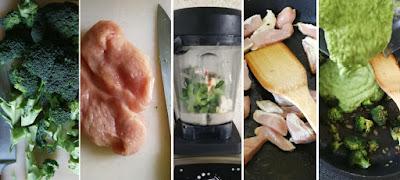 Zubereitung Vollkorn-Fusilli mit Broccoli, Pute und Gorgonzola
