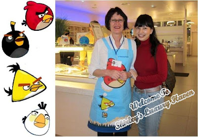 finnair lounge angry birds apron