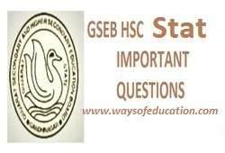 GSEB STD 12 COMMERCE STAT IMP QUESTION FOR MARCH 2020 EXAM